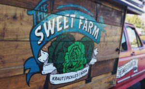 The Sweet Farm Kraut truck.