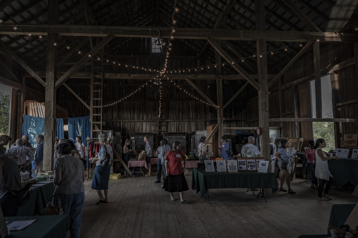 Silent Auction in the barn